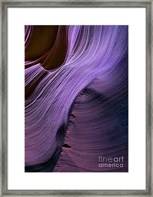 Purple Waves Framed Print by Mike  Dawson