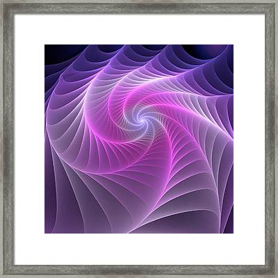 Purple Web Framed Print