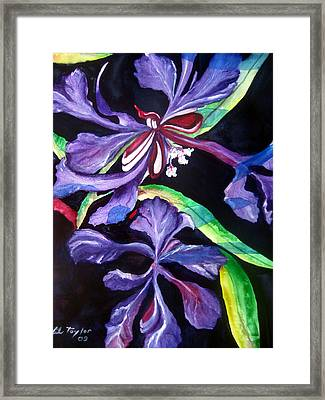 Framed Print featuring the painting Purple Wildflowers by Lil Taylor