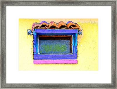 Purple Window Framed Print