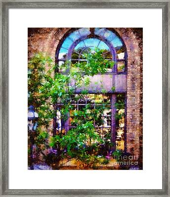 Purple Window Reflections Bethlehem Pa Framed Print