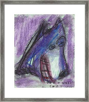 Purple Wolf Framed Print by Christopher Winkler