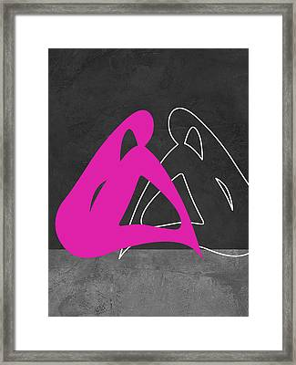 Purple Woman Framed Print