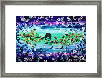 Purple World Framed Print by Mariana Stauffer
