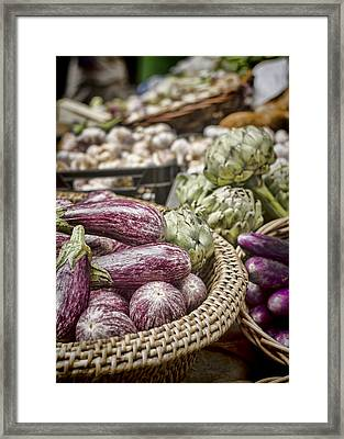 Purples And Greens Framed Print