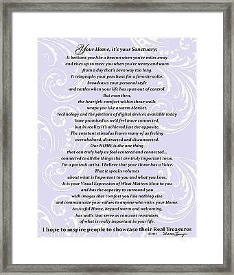 Purpose Statement  Framed Print