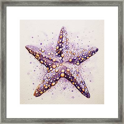 Purpura Starfish Framed Print