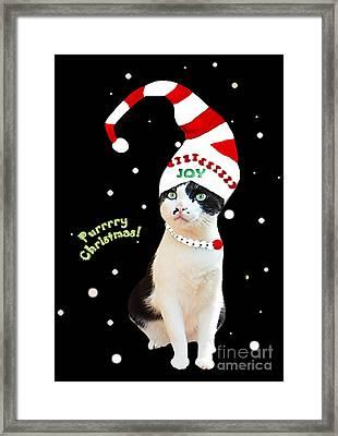 Purrrrry Christmas Framed Print by Tarinee Kulchol