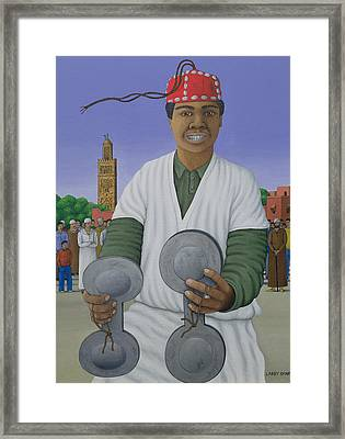 Pursued By Gnawa, 1990 Acrylic On Linen Framed Print by Larry Smart