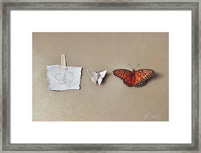 Pursuit Of A Dream Framed Print by Elena Kolotusha