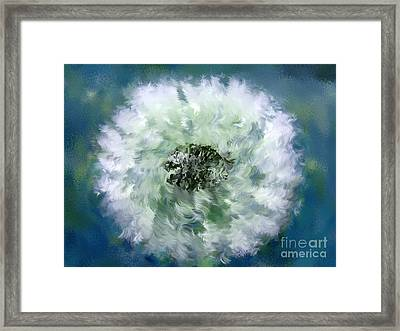 Pursuit Of Happiness Blue White Framed Print