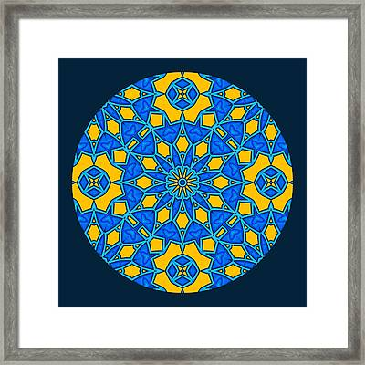 Pursuit Of Happiness Mandala Framed Print by Georgiana Romanovna