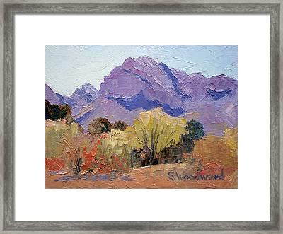 Pusch Ridge Framed Print by Susan Woodward