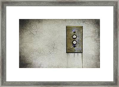 Push Button Framed Print