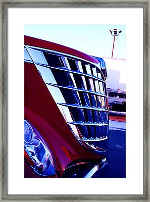 Push Framed Print