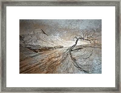 Push Through Framed Print