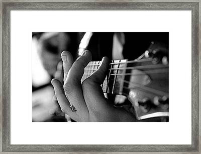 Pushing Frets Framed Print