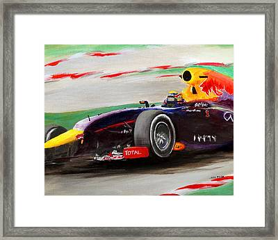 Pushing Hard Framed Print by Chris Fraser