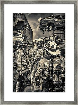 Pushing On Framed Print by Scott Mullin
