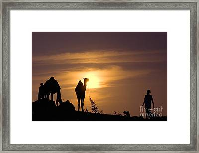 Pushkar Sunset Rajasthan India Framed Print by Neville Bulsara
