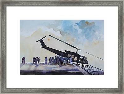 Pushover - South China Sea 1975 Framed Print