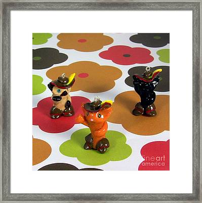 Puss In Boots Animini Necklace Framed Print by Pet Serrano