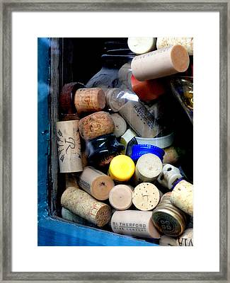 Put A Cork In It Framed Print by Mary Beth Landis