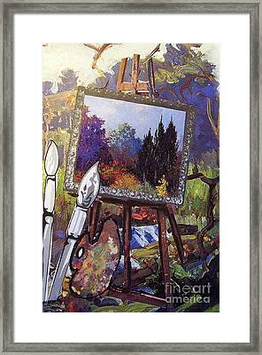 Framed Print featuring the painting Put Color In Your Life by Eloise Schneider