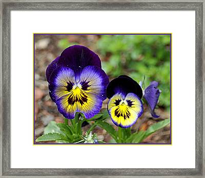 Framed Print featuring the photograph Put On A Happy Face by AJ  Schibig