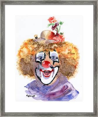 Put On A Happy Face Framed Print by Marsha Elliott