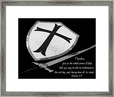 Put On The Armor Ephesians 6 Framed Print