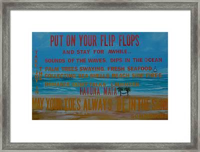 Put On Your Flip Flops Framed Print by Patti Schermerhorn