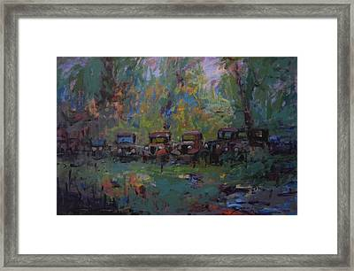 Put Out To Pasture Framed Print by R W Goetting