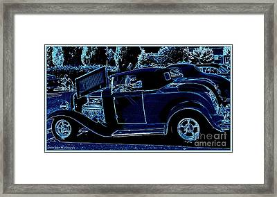 Put The Top Down Framed Print by Bobbee Rickard