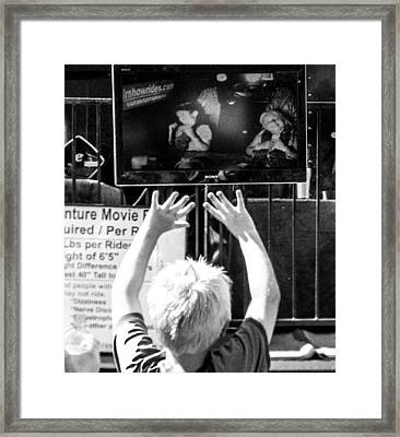 Put Your Hands In The Air Framed Print by Christy Usilton