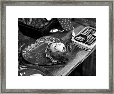 Put Your Head In Your Heart Framed Print by Atchayot Rattanawan