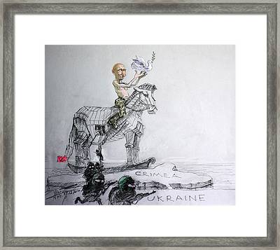 Putin's Surprising Crimea Visit Framed Print by Ylli Haruni