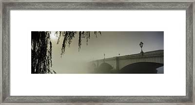 Putney Bridge During Fog, Thames River Framed Print