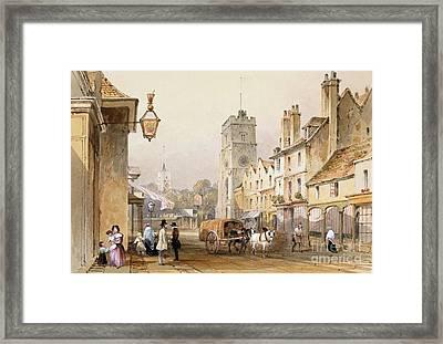 Putney High Street, 1837 Framed Print by British Library