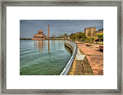 Putra Mosque Framed Print by Adrian Evans