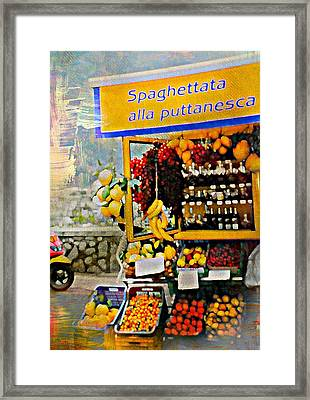Puttanesca Framed Print by Diana Angstadt
