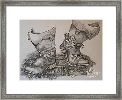 Puttin' On My Dancin' Boots Framed Print by Peter C Lavin