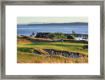 Putting 17 - Chambers Bay Golf Course Framed Print by Chris Anderson