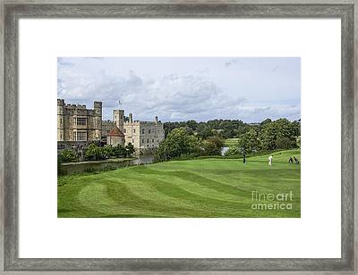 Putting At Leeds Castle Golf Course Framed Print by Chris Thaxter