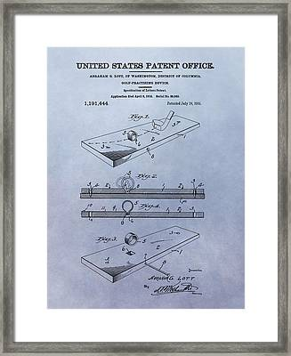 Putting Practice Patent Framed Print by Dan Sproul