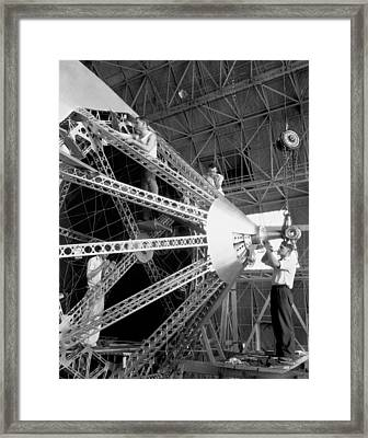 Putting The Nose On The Akron Framed Print by Underwood Archives