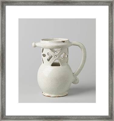 Puzzle Jug, Fopkan On Stand Ring With Worked Neck Framed Print by Quint Lox