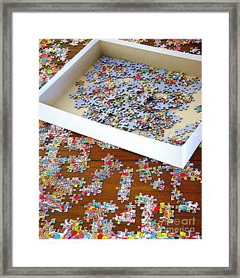 Puzzle Of Life  Framed Print by Bobby Mandal