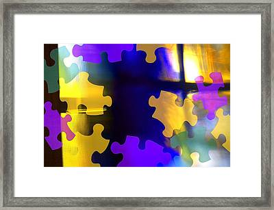Puzzle Piece Abstract Framed Print by Chris and Kate Knorr