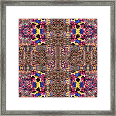 Puzzled 3 - The Joy Of Design Series Compilation Framed Print by Helena Tiainen